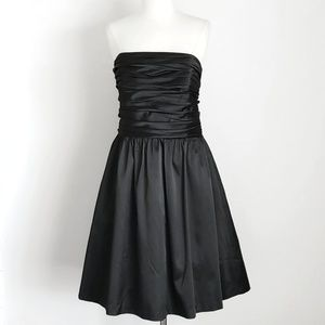 NWT- WHBM Satin A-Line Strapless Formal Dress